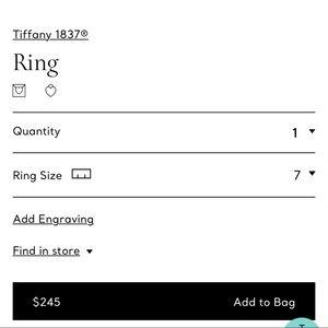 Tiffany & Co. Jewelry - Tiffany set Rnd tag braclt, 1837 md rng,Ven Lk Brc
